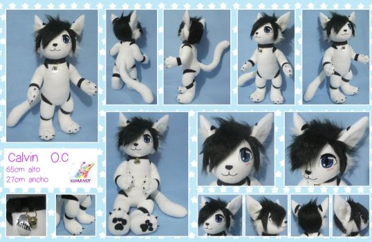 Calvin the kitten plush commish by chocoloverx3
