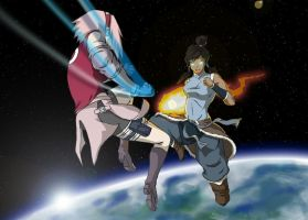 Korra VS Sakura by DeathGuaranteed