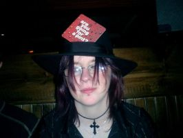 A beer Mat and a hat by Irechan