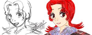 iScribble Test: Anaka by JadineR