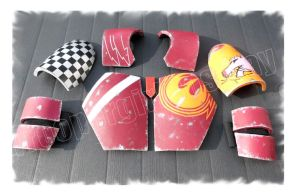 Scratch-built Sabine Armour parts by Troopergirl