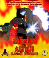 Godzilla vs. Asylus Clash of the Titans Poster by KingAsylus91