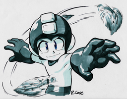 Mega Man Leaf Shield by rongs1234