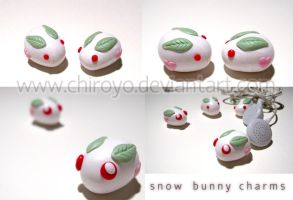 Snowbunny charms by Chiroyo