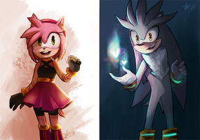 Redraws - Amy and Silver by silamy