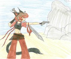 mink want to fight by catgirl-23