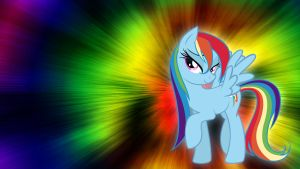 Wet Mane Rainbow Dash Wallpaper by Pappkarton