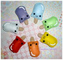 Popsicle Broaches by ChibiWorks