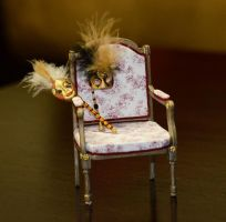 Louis XVI chair - detail-french miniature house by SRKminiature