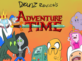 Adenture Time Review Title Card by megadrivesonic