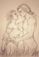 Ancalime and Hallacar - Love in the Field by Ingvild-S