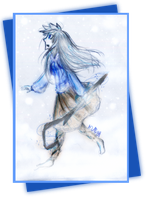 (Fem!JackFrost) Playing in the snow by Ninja-Neko-Aru