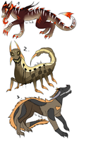 CLOSED -AUCTION- Creatures Adoptables 227 by LeaAdoptables