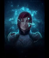 Jane Shepard - Mass Effect 3 Sci-fi-ver by ellieshep