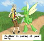 Scyther Love by FluffySquirrel