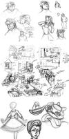 March 2015 Sketchdump by katseartist