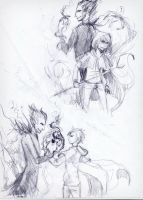 sketch 2 : Jack Frost and Pitch by Anree-Bekker