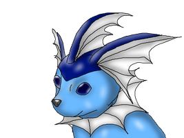 Vaporeon close up by Z-The-Wolf