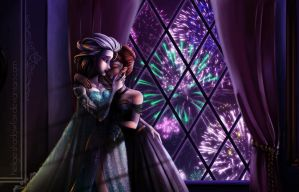 Commission for LoudNoise: Frozen Fireworks by HeiligerShadowfax