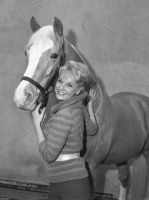 Connie Hines with Mr. Ed by slr1238