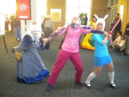 Ice Queen vs. Fionna: Naka-kon 2012 by EtherionGirl