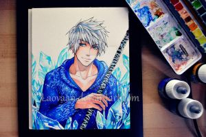 Young Adult Jack Frost - Watercolor by Laovaan