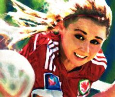 Sarah Wiltshire on canvas by walesrallyart