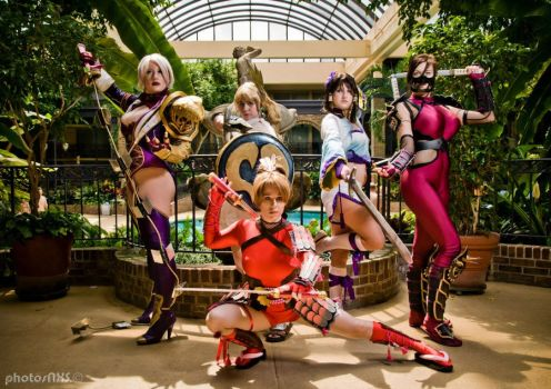 Soul Calibur Girls by PinkJusticeCosplay