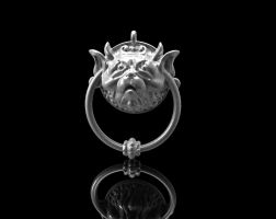 Labyrinth Door Knocker Pendant by MichaelEastwood