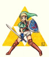 The Legend of Zelda - Link genderbend by Keylhen