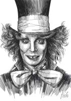 Johnny Depp the Mad Hatter by novicekid