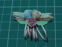 mini roses papercraft by bslirabsl