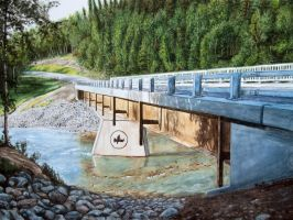 Pembina Bridge - Commission by H-Heather