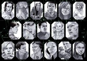Battlestar Galactica Cards by febbik