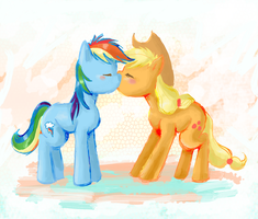 AppleDash Kiss by lotothetrickster