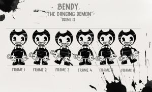 Bendy: The Dancing Demon Frames (Contest Entry) by Gamerboy123456