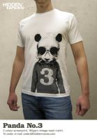 Panda No.3 T-Shirt by hiddenmoves