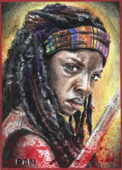 Michonne Sketchcard by adshardcore