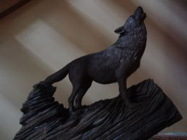 wolf in progress 2 by woodcarve