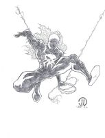 Spiderman2099 pencils by JoeyVazquez