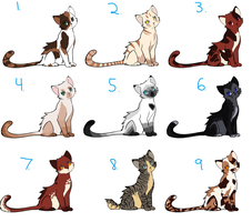 Warrior Cat Adoptable Batch ~Closed~ by Sukida-Adopts