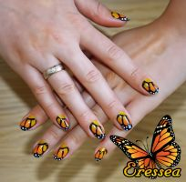 Butterfly nails by eresseayesta