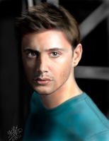 iPad FINGER painting: Jensen Ackles (Supernatural) by chaseroflight