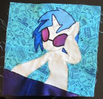 DJ P0N3 Quilt Square by GrowlyLobita
