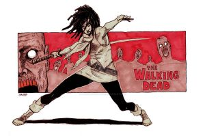 Walking Dead Michonne by theonlybriman47