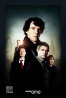 Sherlock series poster by crqsf