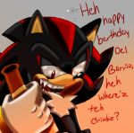 Drunk Shadew : Happy Birthday noseSHARK by SonicForTheWin2