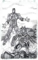 Batman and Iron Man by jey2dworld
