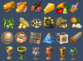 Icons for game 3 by Kifir