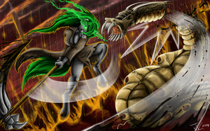 Fanart - MLP. Aela the Demon Slayer by jamescorck